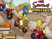 Simpsons Family Race - Bike Games - Car Games