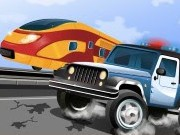 Police Train Chase - Car Racing Games - Car Games