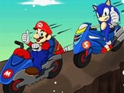 Mario Bike League - cykel spel - bil spel