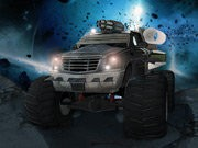 Monster Truck In Space - Car Racing Games - Car Games