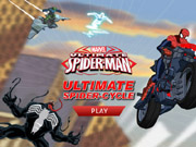 Ultimate Spider-Man: Ultimate Spider-Cycle - fiets spelletjes - auto spelletjes