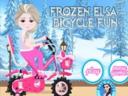 Frozen Elsa Bicycle Fun - Bike Games - Car Games