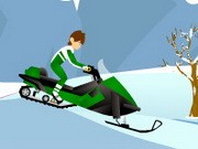 Ben 10 Snow Biker - Bike Games - Car Games