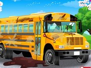 School Bus Car Wash - Other Games - jeux de voiture