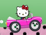 Kitty Ride Car - auto race spelletjes - auto spelletjes