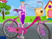 Barbie Bicycle Wash And Repair Game
