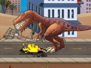 T-Rex Rampage Prehistoric Pizza Game