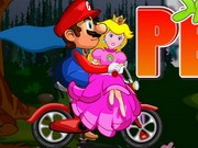 Mario Saves Peach - Bike Games - Car Games